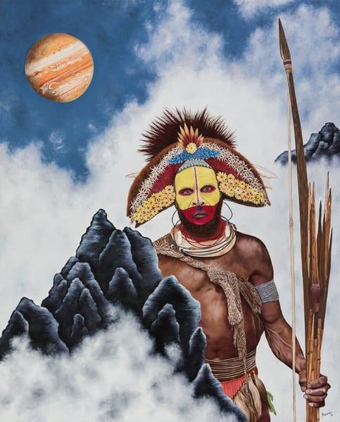 New Guinea Man   Prints Art   Mercedes Fine Art