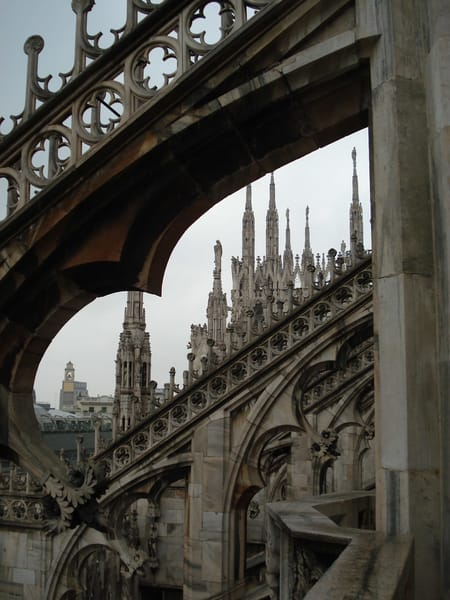 """Magnet 2""""X2"""" Milan Beauty The Cathedral Rooftop 