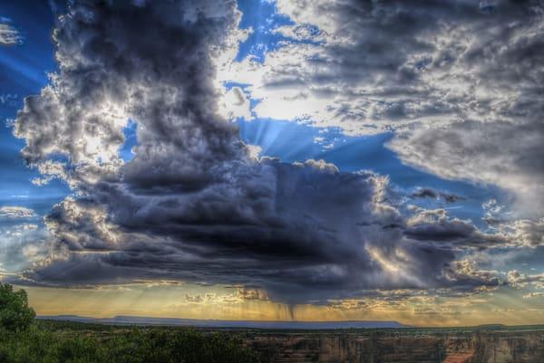 Monsoon Sunburst At Canyon de Chelly AZ