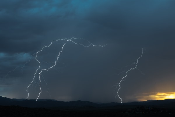 Monsoon Lightning near Prescott, Arizona