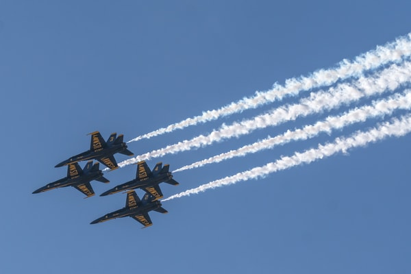 Blue Angels Diamond Formation Fly-by