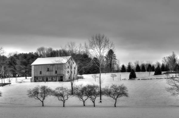 Pennsylvania Winter Farm Scene