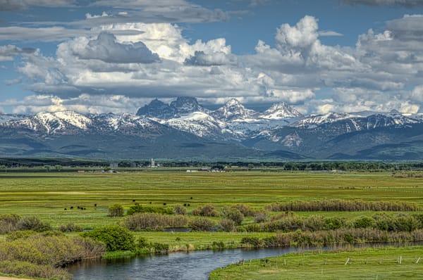 Grand Teton Mountains from Idaho