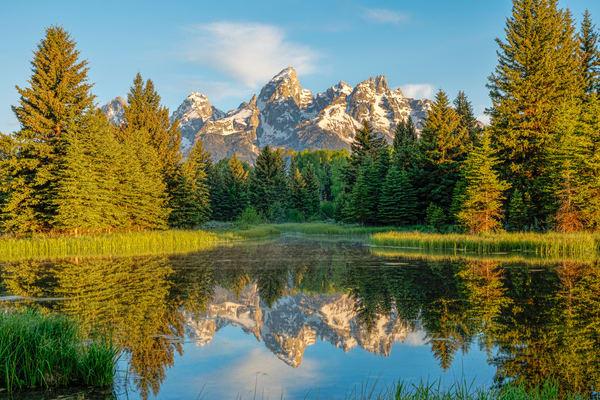 Grand Teton Mountains Reflection