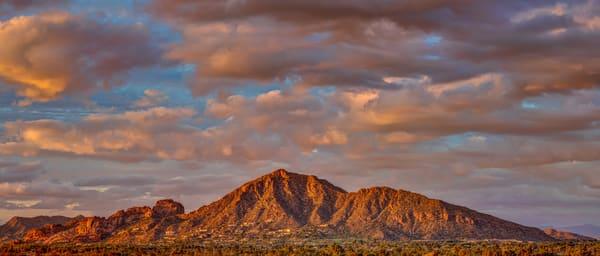 Phoenix Camelback Mountain Panorama at sunset