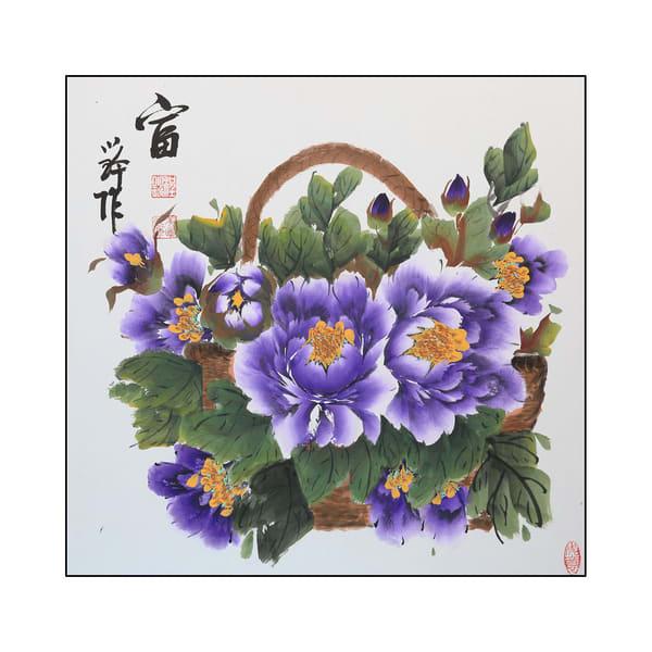 Purple Peony Basket