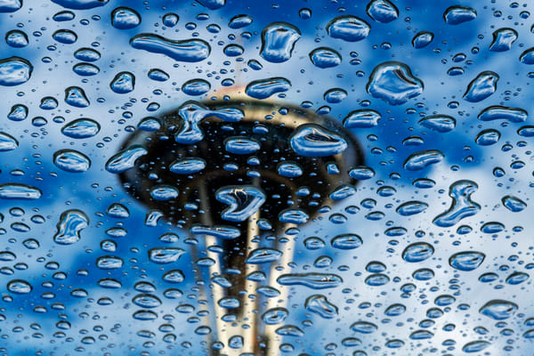Raindrops, Seattle, Space Needle