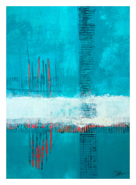 Tideway - Original Abstract Painting | Cynthia Coldren Fine Art
