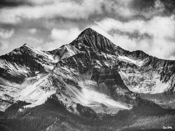 First Snow Of The Season On Wilson Peak (B&W) Photography Art | Peter Batty Photography