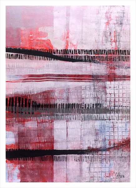 Fence Lines - Original Abstract Painting | Cynthia Coldren Fine Art