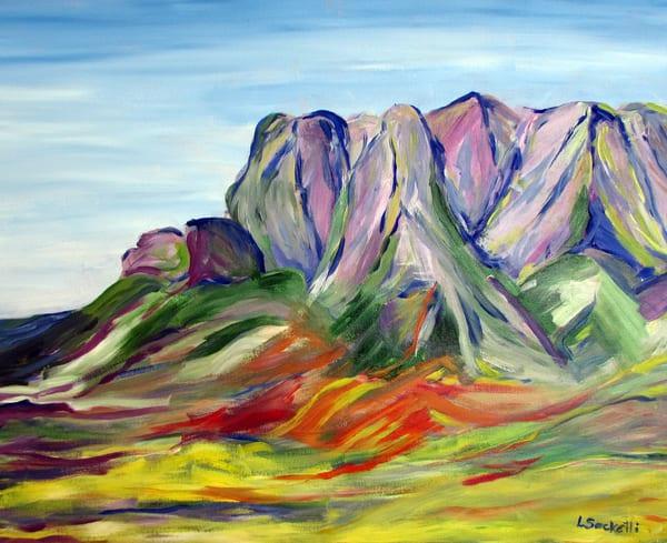 Pink Mountains Stellenbosch Art | Linda Sacketti