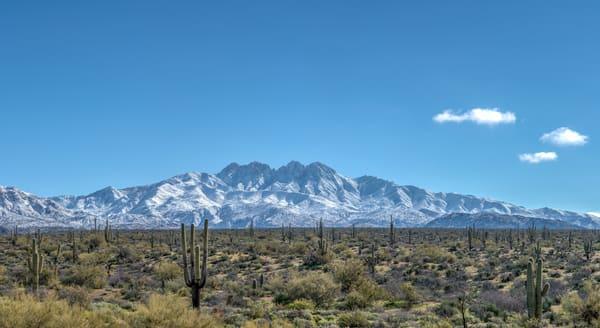 Four Peaks Snow Panorama