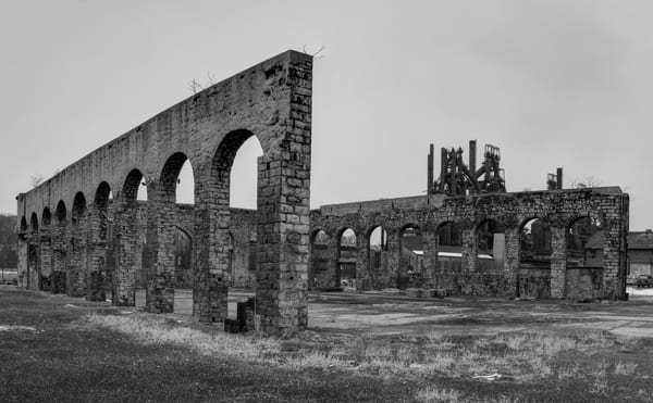 Steel Factory in Ruins