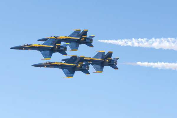 Blue Angels Delta Formation Fly-by