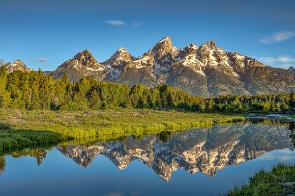 Grand Teton Mountains Reflection in Snake River