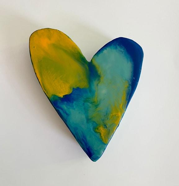 Encaustic Small Heart #1 | Jannet Haitas