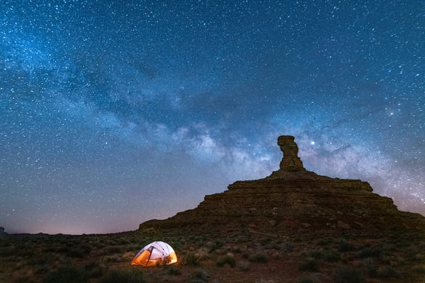 Mily Way Over Rooster Butte, Bluff Utah  Art | marcyephotography