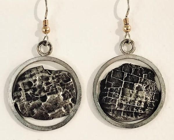 Circle Silver Casting Earrings Art | Art a la Carte Gallery (Karen Rexrode, Manager)