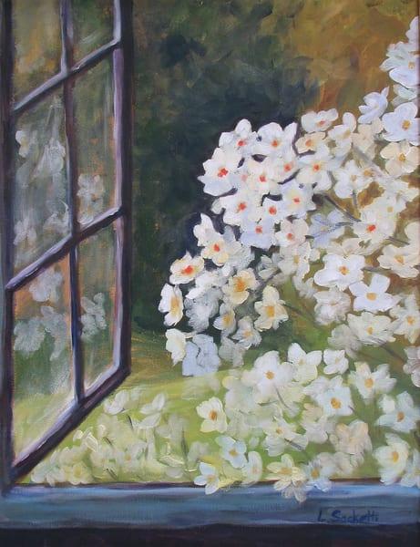 Flowers At My Window Art | Linda Sacketti