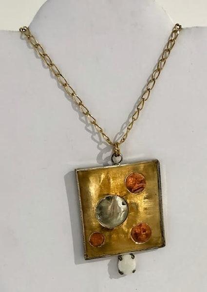 Multi Metal Necklace With Opal Art | Art a la Carte Gallery (Karen Rexrode, Manager)