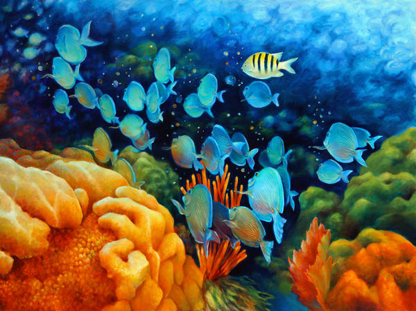 Marine Life Polyptychs