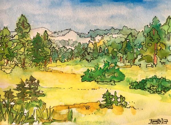 Yosemite Meadow  Art | vibrant art studio, Art by Annette Dion McGowan