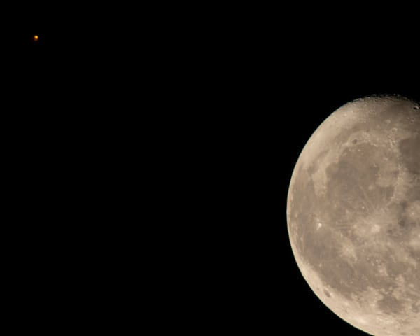 Corn Moon Meets Mars Photography Art   Jim Livingston Art
