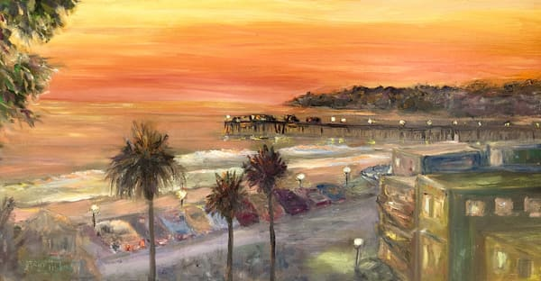 Capitola Sunset Art | vibrant art studio, Art by Annette Dion McGowan