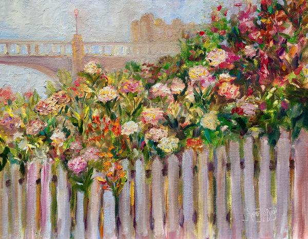 Capitola Flower Walk Art | vibrant art studio, Art by Annette Dion McGowan