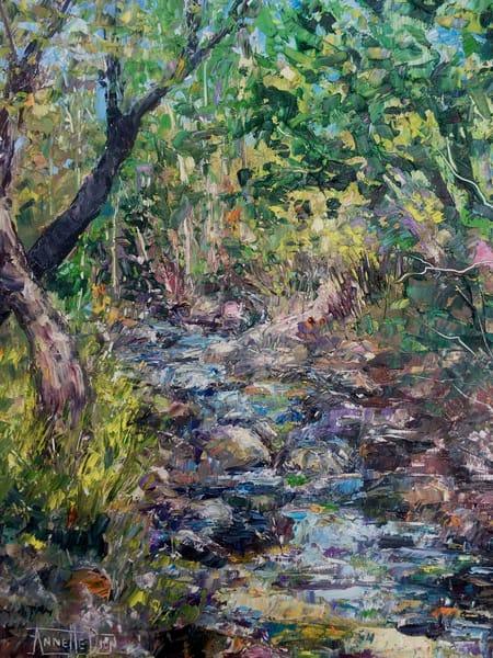 Mountain Stream Art | vibrant art studio, Art by Annette Dion McGowan