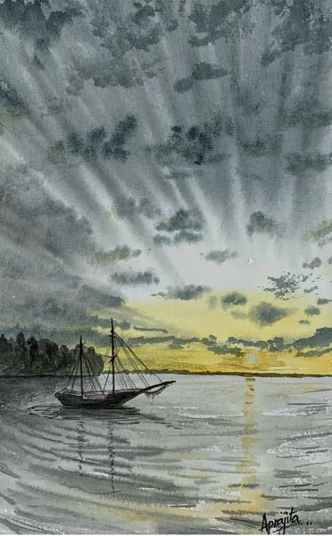 """Solitude"" in Watercolors by Aprajita Lal"