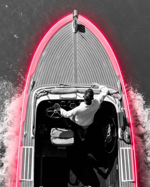 Italian Boat Taxi Photography Art | KPBPHOTO