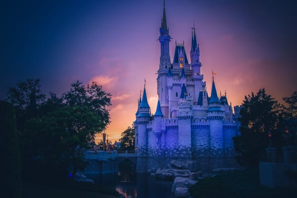 Cinderellas Castle Sunset 2 Photography Art | William Drew Photography