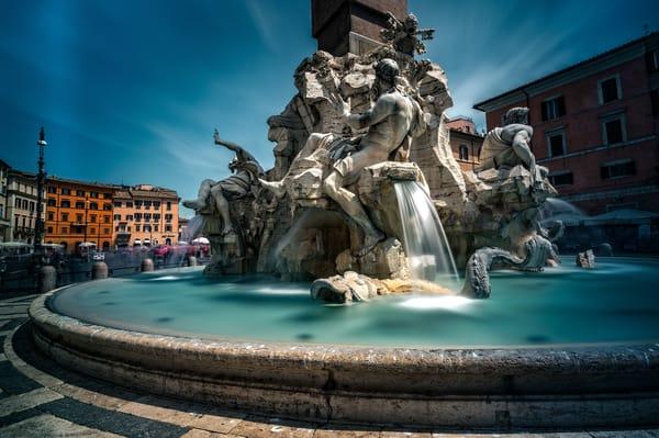 Fontana dei Quattro Fiumi , Piazza Navona, Rome, Fountain,
