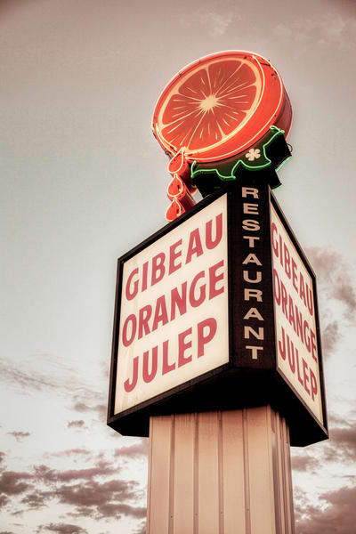 Gibeau Orange Julep Sign - Prints