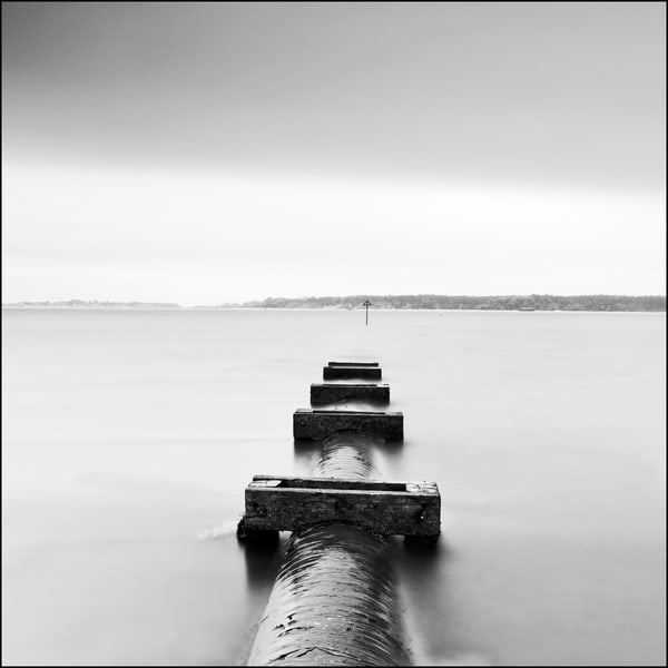 Poole Harbour Water Outlet Art | Roy Fraser Photographer