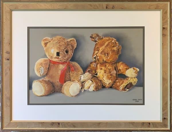 Greg Stett Art Pastels - Teddy Bears