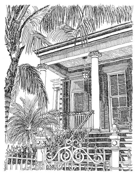 shotgun house, faubourg treme:  fine art prints in elegant pen for sale online