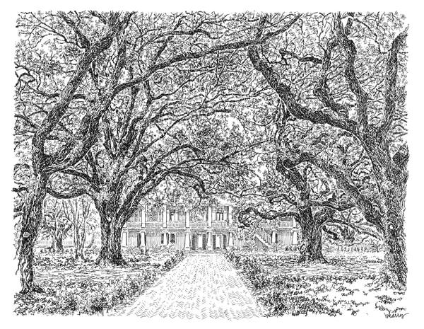 whitney plantation, edgard, louisiana:  fine art prints in elegant pen available for purchase online