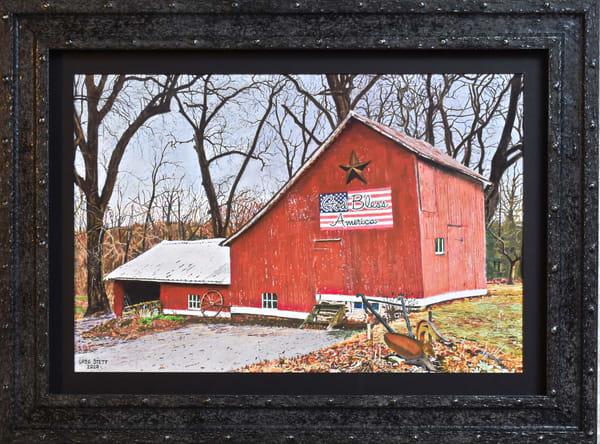Greg Stett Art Pastels - Country Barn