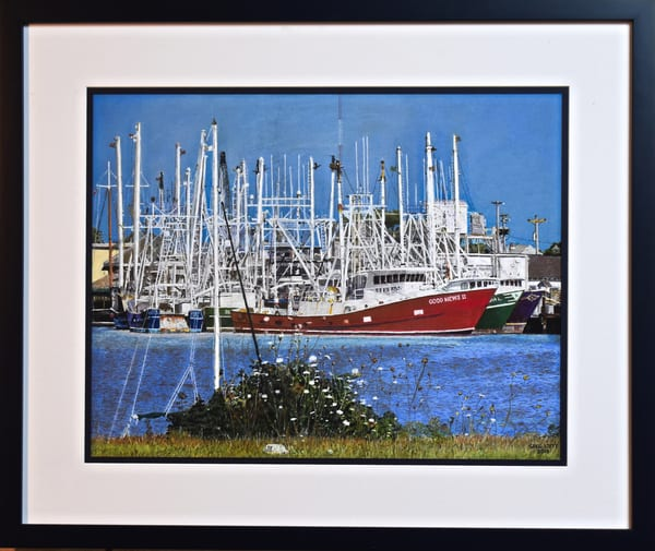 Greg Stett Art Pastels - Fishing Boats