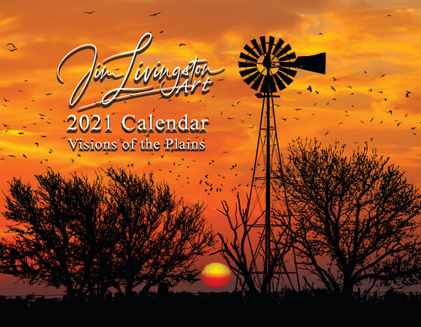 2021 Calendar, Visions Of The Plains | Jim Livingston Art