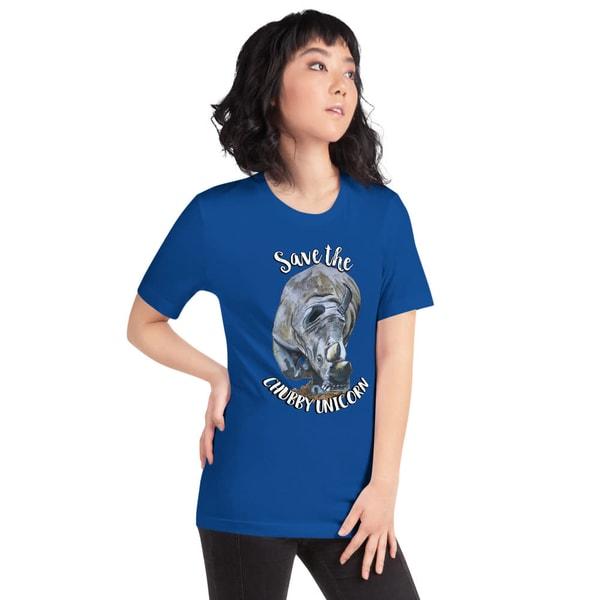 """Save The Chubby Unicorn"" Tshirt | Water+Ink Studios"