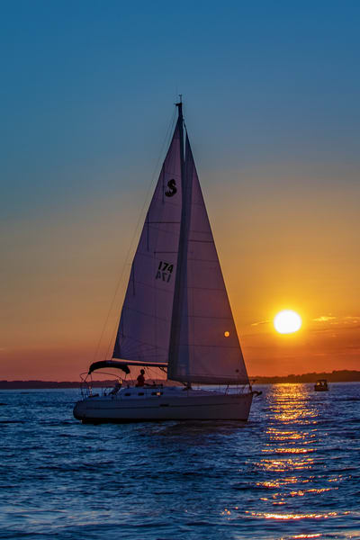 Sunset Sail Photography Art | David Lawrence Reade