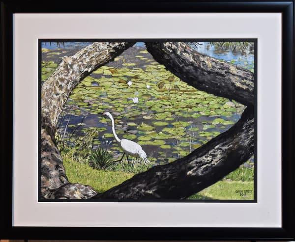 Greg Stett Art Pastels - Egret
