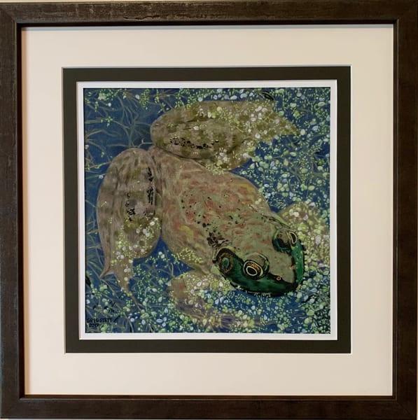 Greg Stett Art Pastels - Frog