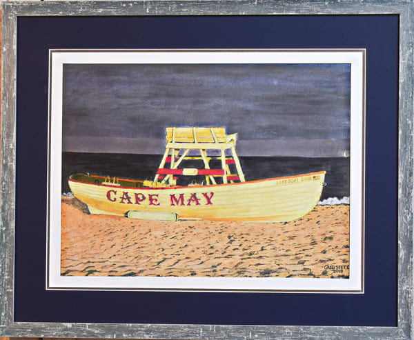 Greg Stett Art Pastels - Lifeboat