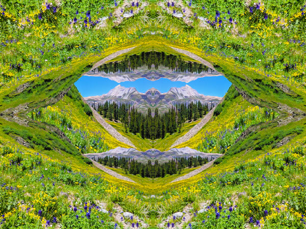 In the Heart of the US Basin print of photograph of US Basin transformed into digital art by Maureen Wilks