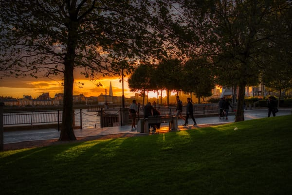 September Sunset Over The City Art   Martin Geddes Photography