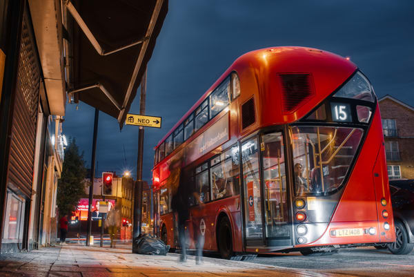 Limehouse Bus #2 Art   Martin Geddes Photography